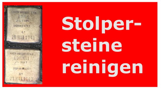 Stolperstein Putzaktion